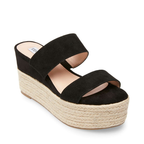 HAPPY BLACK SUEDE - Steve Madden