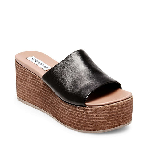 HEATED BLACK LEATHER - Steve Madden