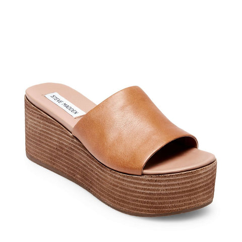 HEATED COGNAC LEATHER - Steve Madden