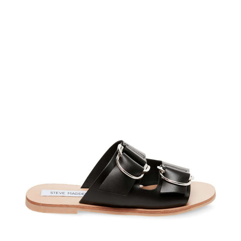 LINDSAY BLACK LEATHER - Steve Madden
