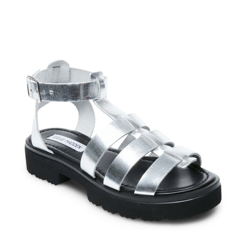 MUMBLE SILVER LEATHER - Steve Madden