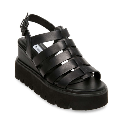 PUZZLE BLACK LEATHER - Steve Madden