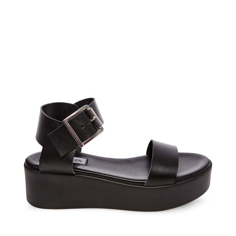RECOVER BLACK LEATHER - Steve Madden