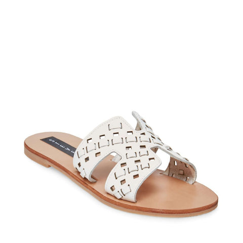 GREECE-W WHITE LEATHER - Steve Madden