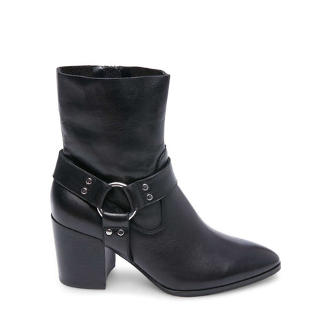 JIFFIE BLACK LEATHER - Steve Madden