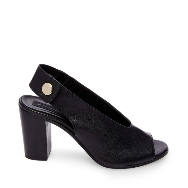 LEADER BLACK LEATHER - Steve Madden