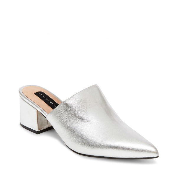 SIMONE SILVER LEATHER - Steve Madden