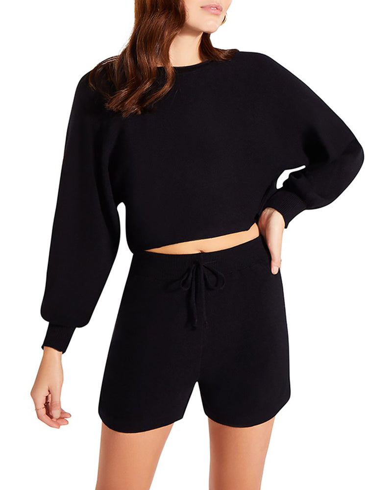 LOUNGE SHORTS SET BLACK