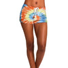 TIE-DYE SHORTS ORANGE MULTI