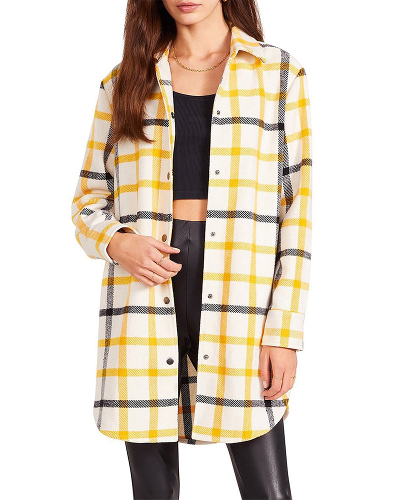 ELDRIDGE PLAID COAT YELLOW MULTI