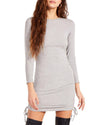 LONG SLEEVE MINI DRESS GREY