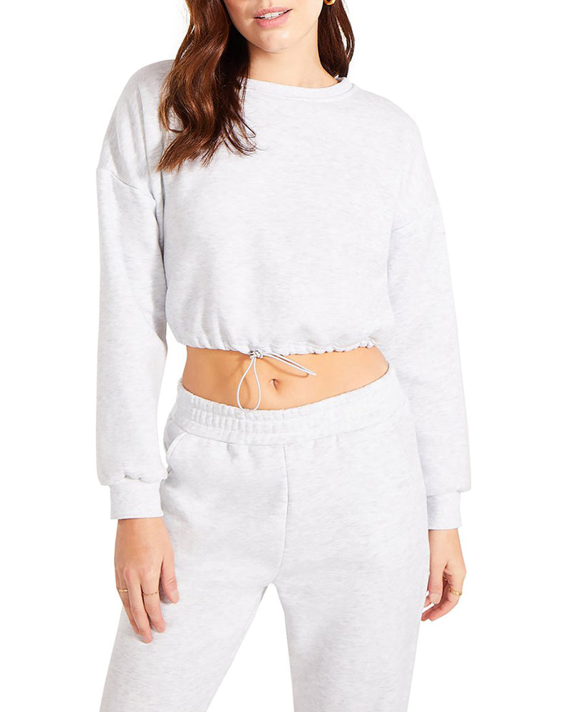HOODIE AND TRACK PANT SET WHITE