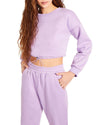 HOODIE AND TRACK PANT SET PURPLE