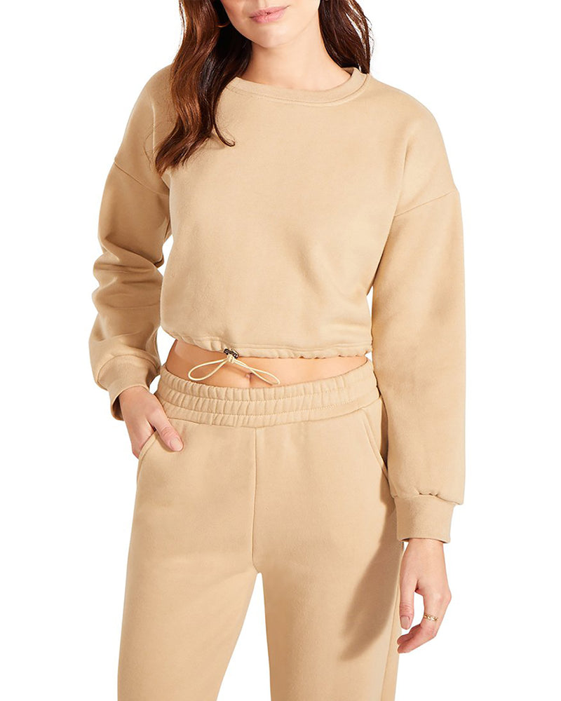 HOODIE AND TRACK PANT SET NUDE