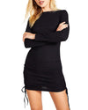 LONG SLEEVE MINI DRESS BLACK