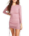 LONG SLEEVE MINI DRESS PINK