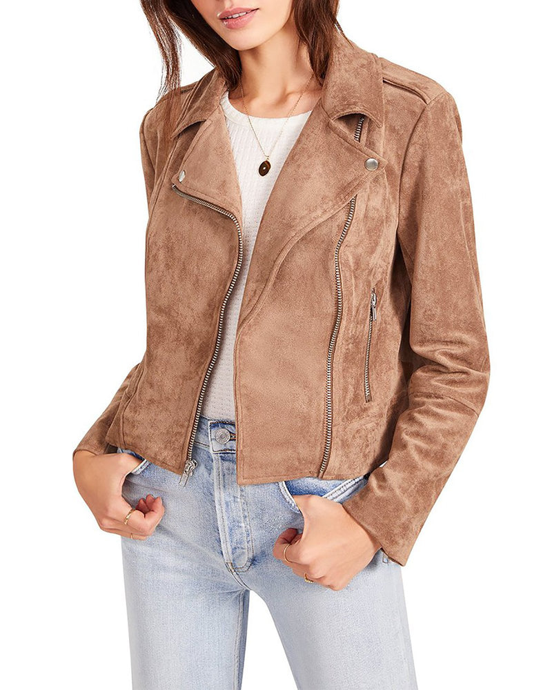 NOT YOUR BABY MOTO JACKET TAN