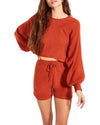 LOUNGE SHORTS SET RED ORANGE