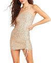 SEQUIN MINI DRESS GOLD