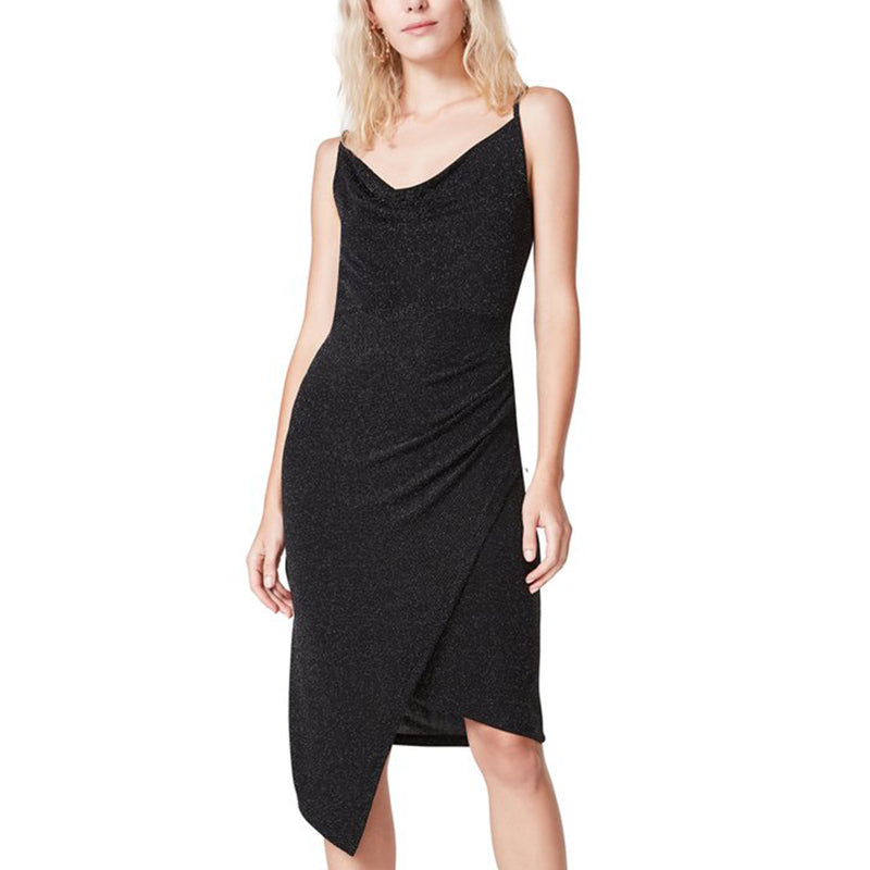 ASYMMETRICAL DRESS BLACK SILVER