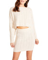 CABLE KNIT SKIRT SET CREAM