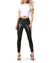 VEGAN LEATHER LEGGINGS BLACK