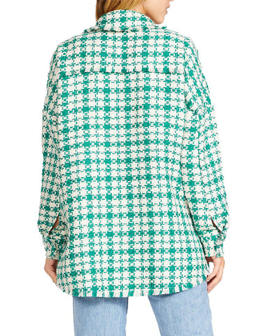 PLAID SHACKET GREEN MULTI