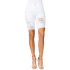 DISTRESSED BERMUDA SHORTS WHITE