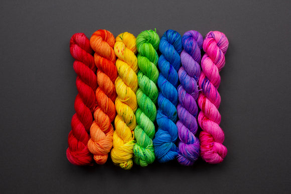 Rainbow Set - 7 x 50g skeins - Superwash Merino - Fingering Weight