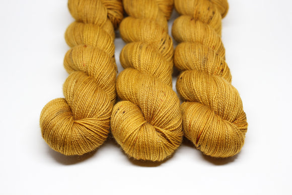 Caramel - BFL Nylon - High Twist Fingering Weight