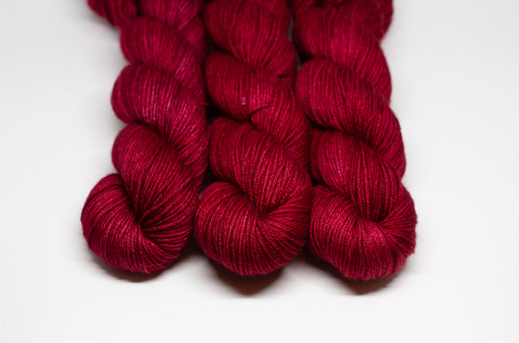 Christmas Red - Merino Yak Silk DK - Double Knit Weight