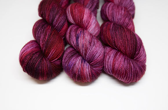 Purple Red Alert - BFL Nylon - High Twist Fingering Weight
