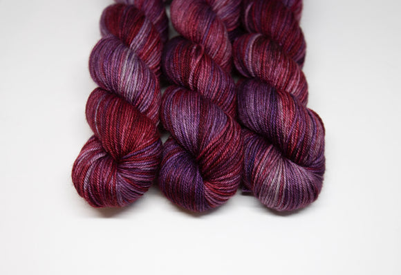Purple Red Alert - Merino Yak Silk DK - Double Knit Weight