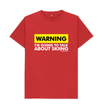 Load image into Gallery viewer, Funky Yeti Men's Warning - Skier Tee