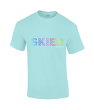 "Funky Yeti Men's T-Shirt ""Rainbow Skier"""