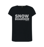 "Load image into Gallery viewer, Funky Yeti Women's ""Snowflake Snowboarder"" Tee"