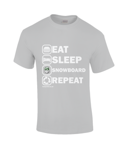 "Funky Yeti Men's T-Shirt ""Eat Sleep Snowboard Repeat"""
