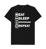 Load image into Gallery viewer, Funky Yeti Men's Eat Sleep Snowboard Repeat Tee