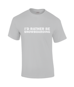 "Load image into Gallery viewer, Funky Yeti Men's T-Shirt ""I'd Rather Be Snowboarding"""