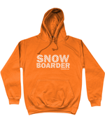 "Load image into Gallery viewer, Funky Yeti Men's Hoodie ""Snowflake Snowboarder"""