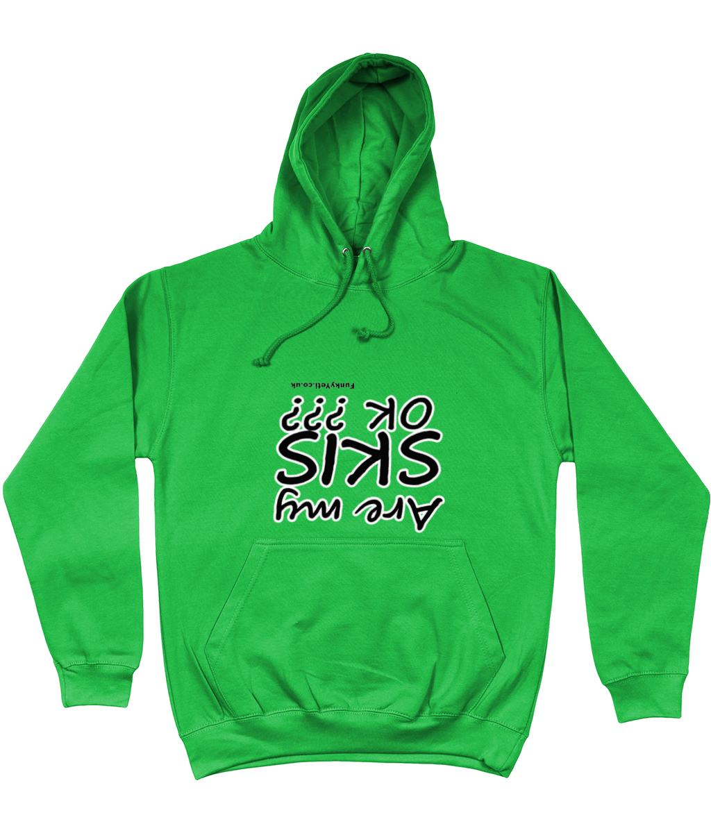"Funky Yeti Men's Hoodie ""Are My Skis OK?"""