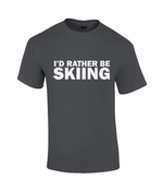 "Load image into Gallery viewer, Funky Yeti Men's T-Shirt ""I'd Rather Be Skiing"""