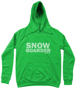 "Load image into Gallery viewer, Funky Yeti Women's Hoodie ""Snowflake Snowboarder"""
