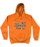 "Funky Yeti Men's Hoodie ""Is My Board OK?"""