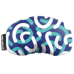 Load image into Gallery viewer, Gogglesoc - Bright Blue Curves Soc Funky Yeti Exclusive Goggle Cover