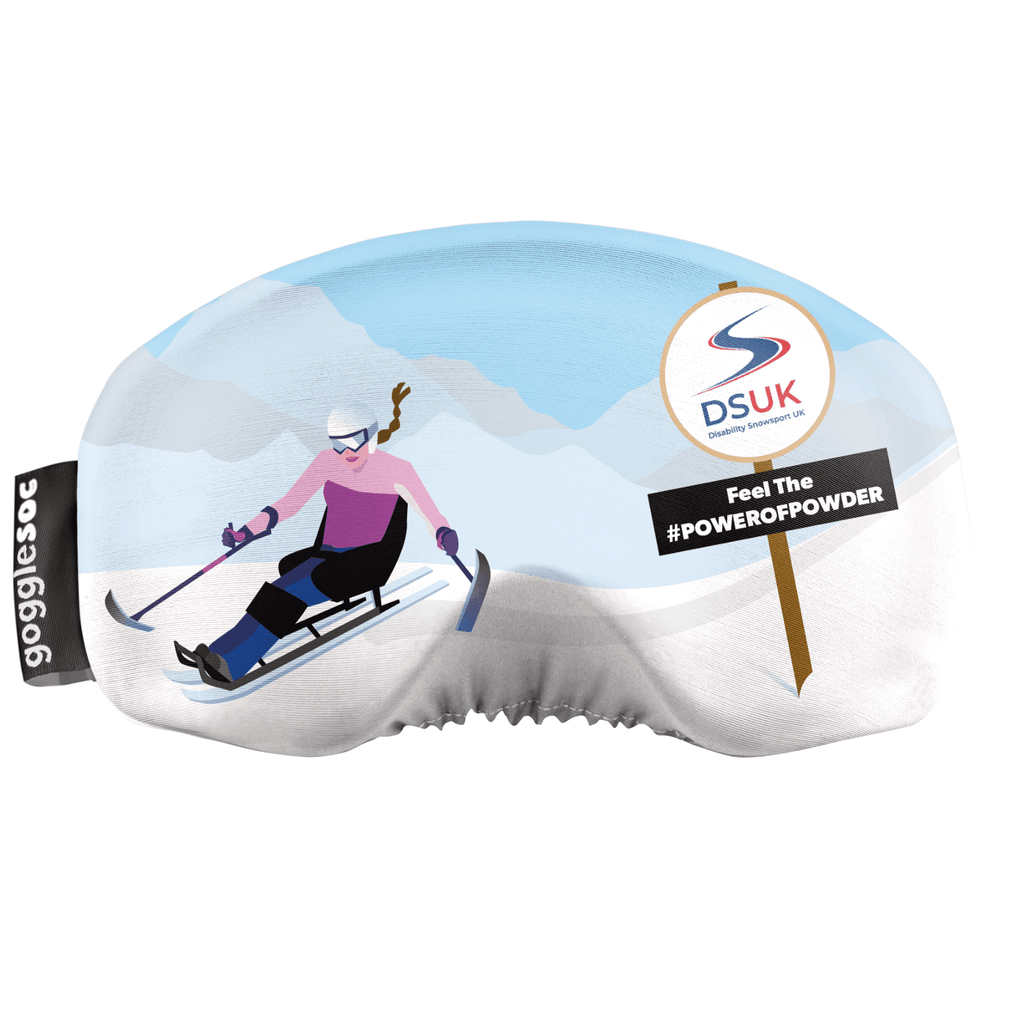 Disability Snowsport UK Gogglesoc Ski Snowboard Goggle Cover Protector