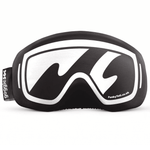 Load image into Gallery viewer, Gogglesoc Funky Yeti Soc ski snowboard goggle cover White