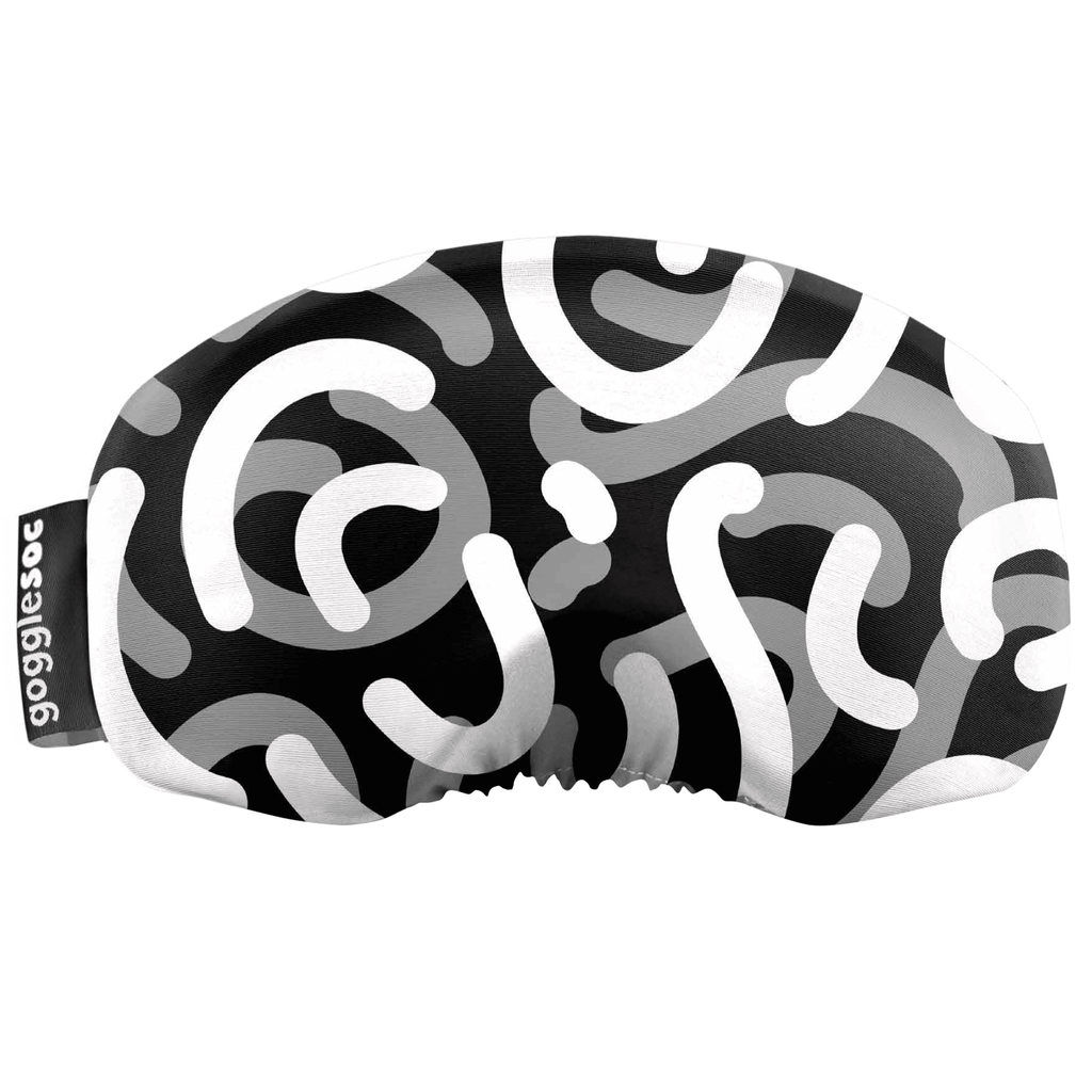 Gogglesoc - Greysacle Curves Soc Funky Yeti Exclusive Goggle Cover