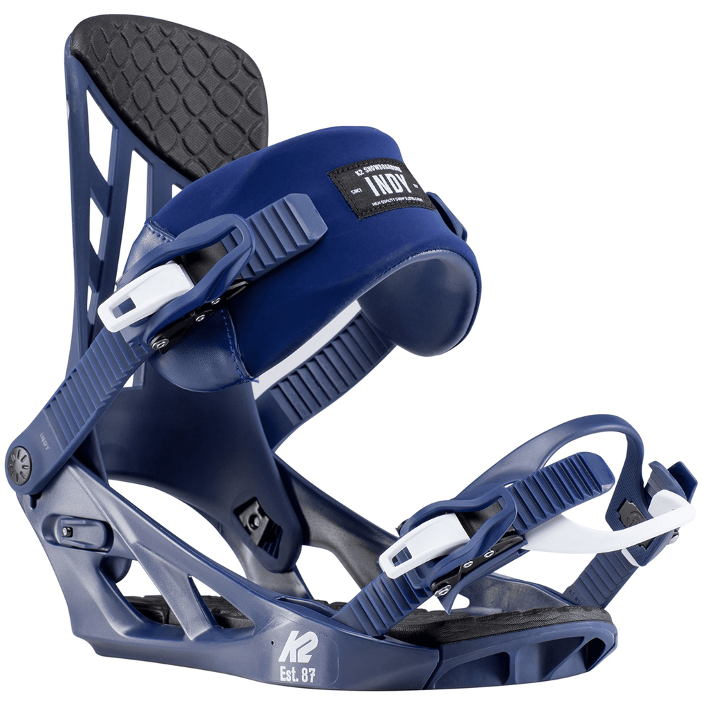 K2 Indy Snowboard Bindings (2020) Navy
