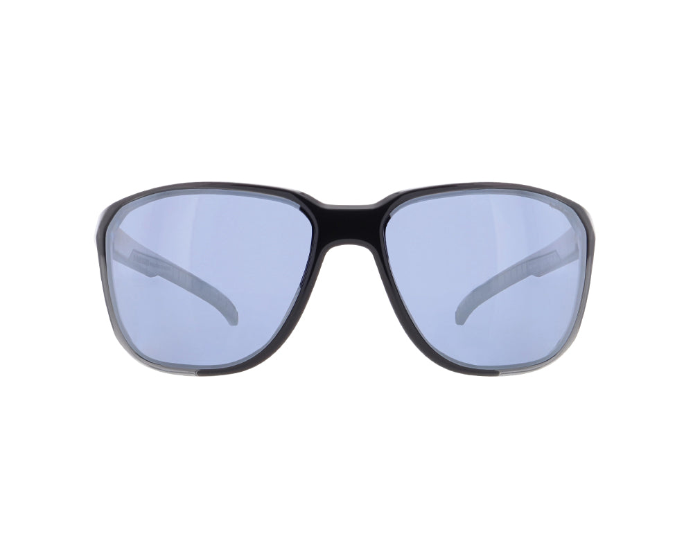 Red Bull Spect Sunglasses - BOLT X'tal Grey / Blue With Silver Flash Polarized